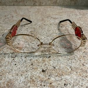 Gold Clear Dragon Oval Frames